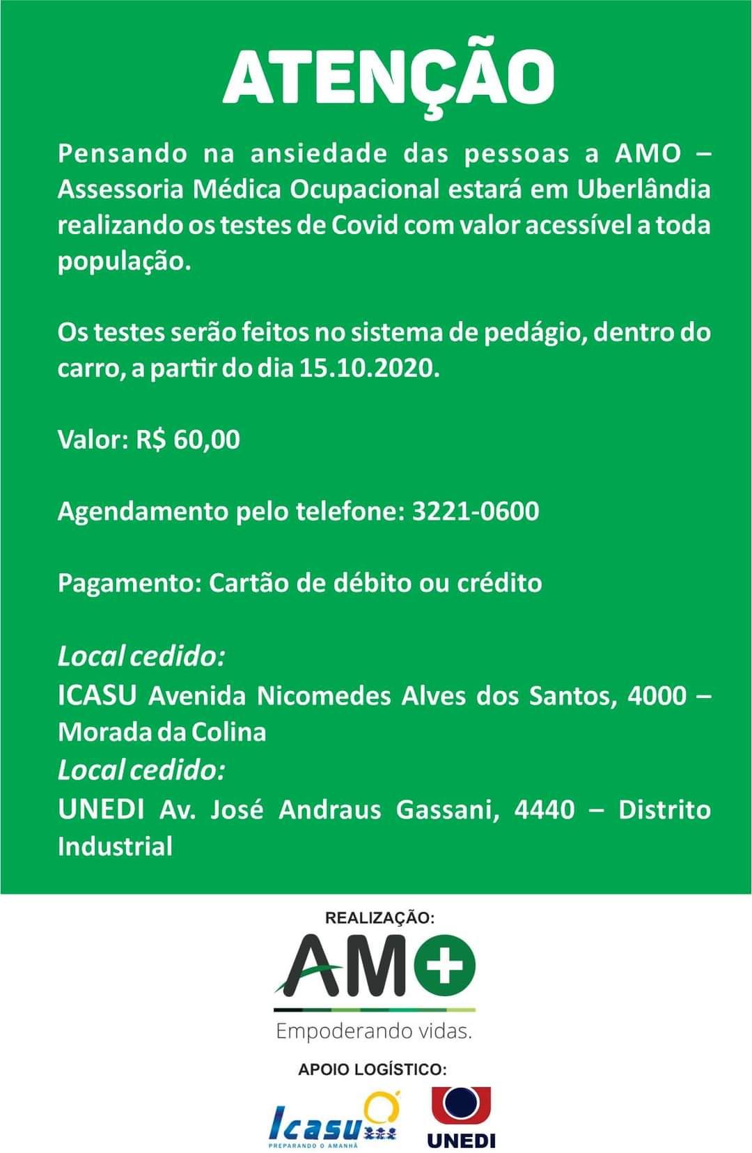 Testes de COVID com valor acessível a toda população!